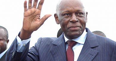 Angola ex president Jose Edwardo Dos Santos